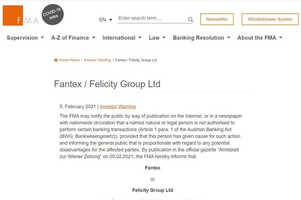 FMA blacklisted broker Fantex